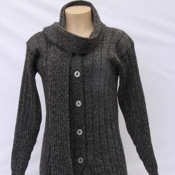Alpaca Wool Coat with Scarf