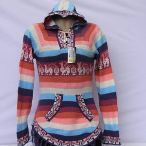 Rainbow Alpaca Jumper with Tassels